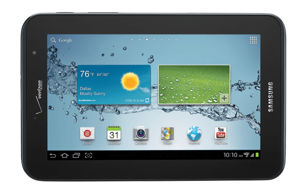 Verizon Wireless to offer the Samsung Galaxy Tab 2 7.0 on August 17 for $349