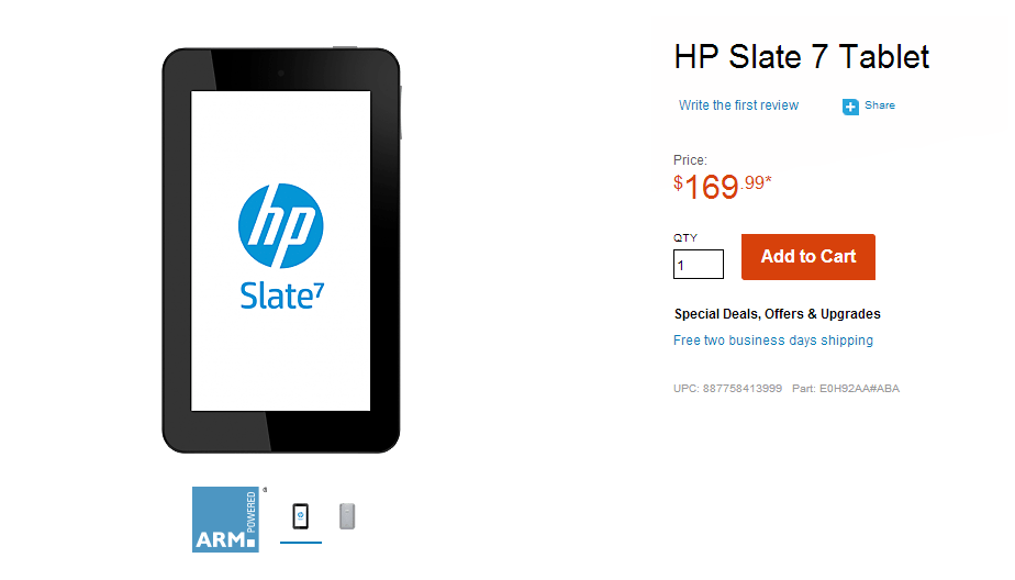 Budget Android tablet HP Slate 7 now available with Beats Audio for $170