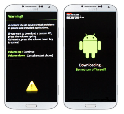 Download Mode in Samsung Galaxy