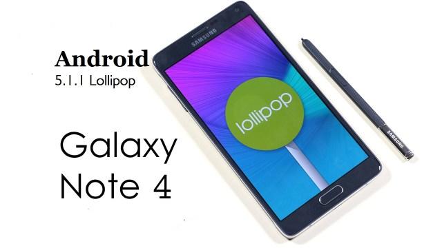 Galaxy Note 4 Lolliop