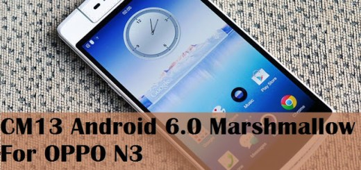 update oppo n3 to marshmallow cm13