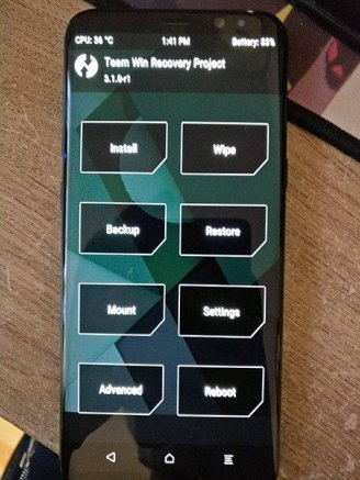 TWRP Recovery Galaxy S8