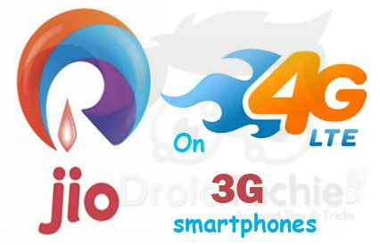 Use Reliance Jio 4G SIM in 3G Phones
