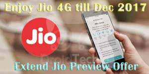 Extend Reliance Jio welcome offer till Dec 2017 100% Working