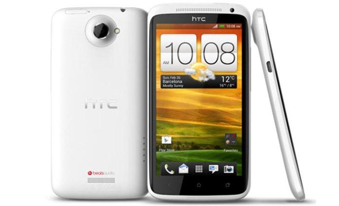 HTC One X - Vorder- und Rückansicht des HTC One X in Weiß - Droidenansichten