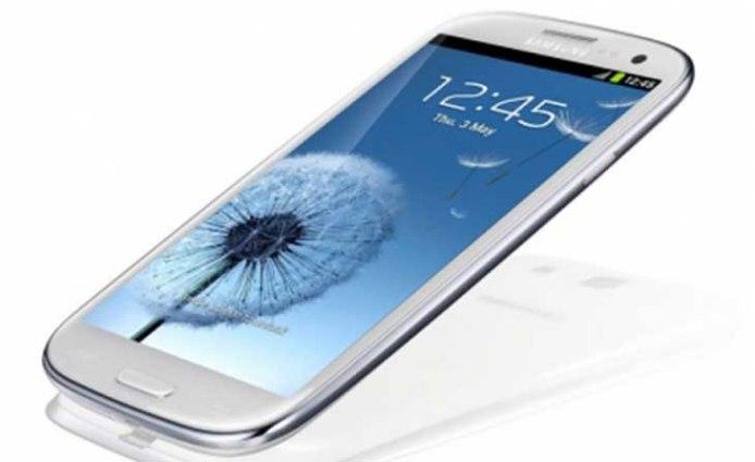 Samsung Galaxy S3 - Neigungswinkel von Weiß Samsung Galaxy S3 - Droid Views