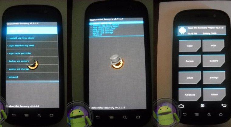 Nexus S-Handbuch: Entsperren von Bootloader, Root, Install Recovery und ROMs - Benutzerdefinierte Wiederherstellungen Nexus S - Droid Views