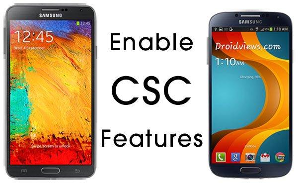 CSC-Funktionen bei Samsung