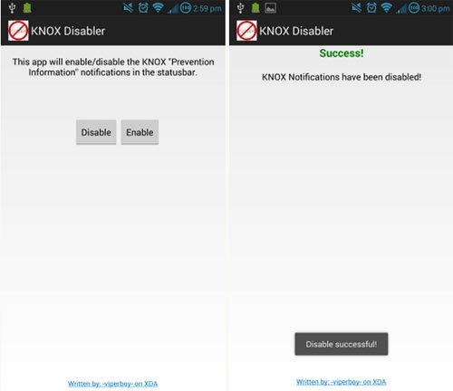 Knox Disabler App
