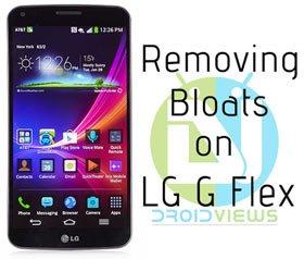 Entfernen Sie Bloats auf LG G Flex