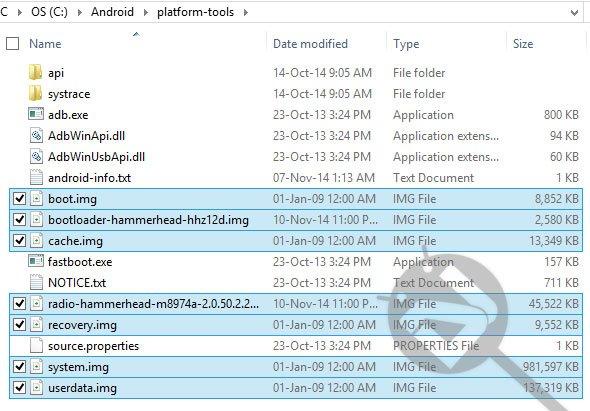 Werksbilder Nexus-Geräte