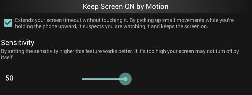 den Bildschirm eingeschaltet lassen