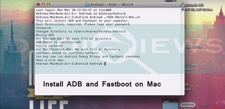 ADB und Fastboot auf dem Mac