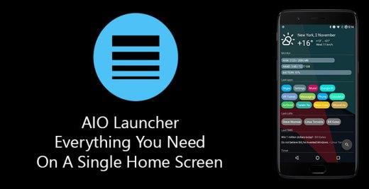 AIO Launcher v2.7.25 [Premium][SAP] [Latest] Apk