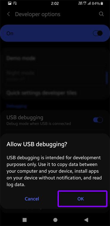 USB-Debugging für Android zulassen