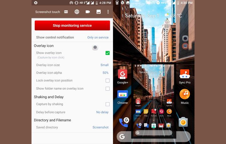 Screenshot-App eines Drittanbieters