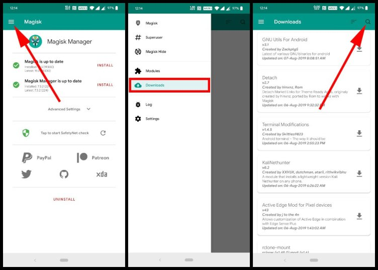 "Magisk Manager Download Modules ""srcset ="" https://i1.wp.com/www.droidviews.com/wp-content/uploads/2019/08/Magisk-Manager-Downloads.jpg?w=752&ssl=1 1000w, https://www.droidviews.com/wp -content /uploads/2019/08/Magisk-Manager-Downloads-768x549.jpg 768w ""sizes ="" (maximum width: 1000px) 100vw, 1000px"