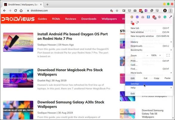 """Chrome Desktop Settings Menu """"srcset ="""" https://i1.wp.com/www.droidviews.com/wp-content/uploads/2019/09/Chrome-Desktop.jpeg?w=586&ssl=1 1011w, https://www.droidviews.com/wp-content / uploads /2019/09/Chrome-Desktop-768x526.jpeg 768w """"sizes ="""" (maximum width: 1011px) 100vw, 1011px"""