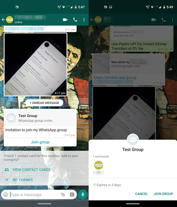 group privacy notifications