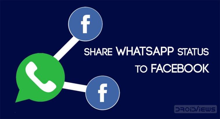 Teilen Sie den WhatsApp-Status mit Facebook