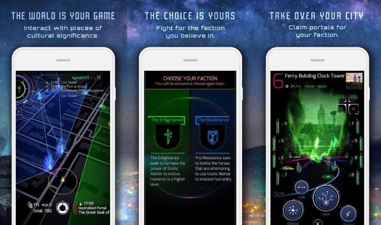 Ingress Prime augmented reality app