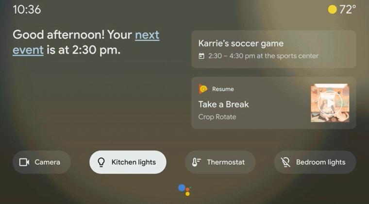 Google Assistant Umgebungsmodus