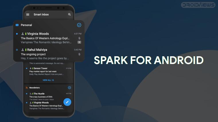 Funken für Android Dark Mode