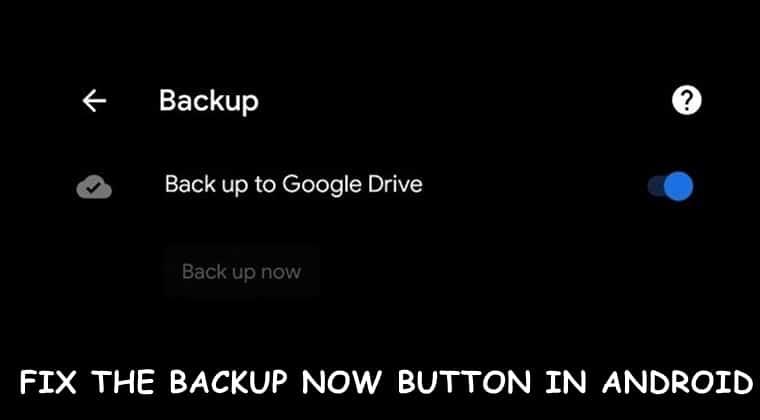 Backup Google Drive beheben