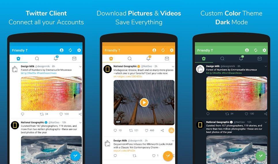 twitter friendly customer application