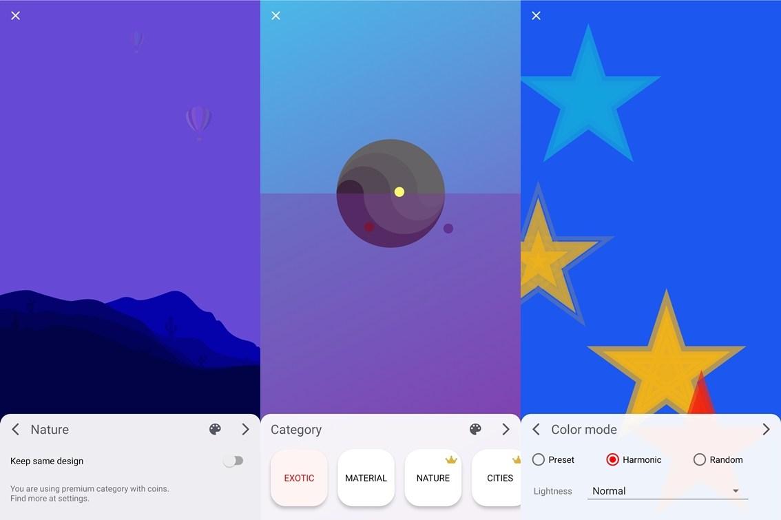 Funktionen von Stupis Screens