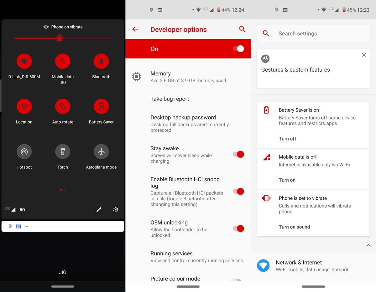 Android-Einstellungen UI-Farbe