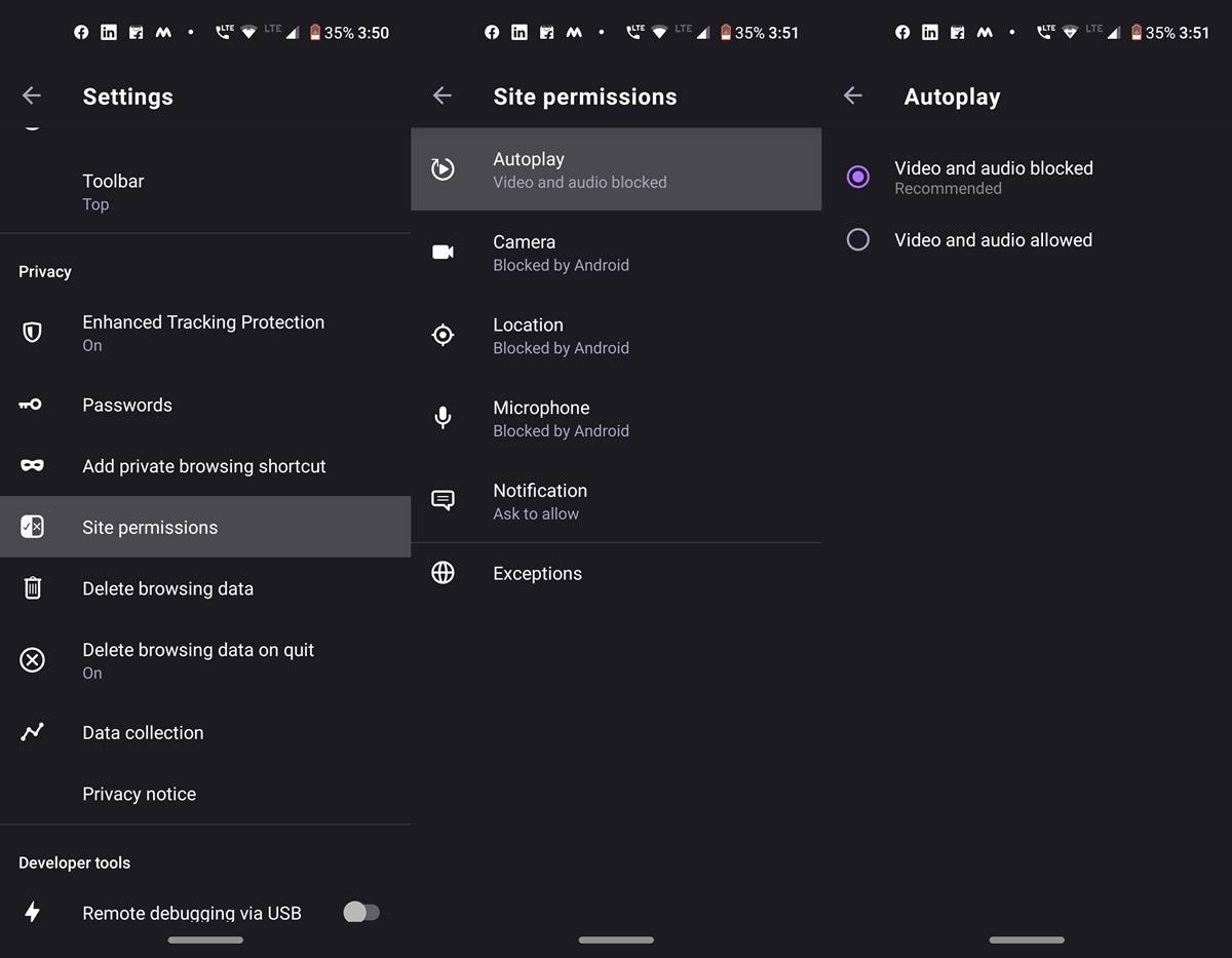 Firefox Vorschau Autoplay