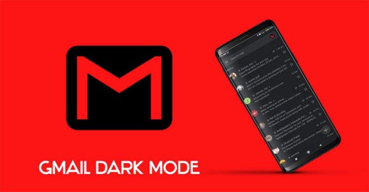 dunkles Google Mail für Android