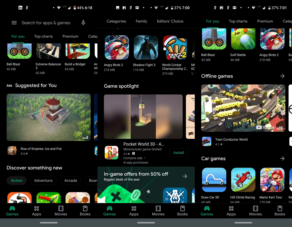 Play Store Video-Anzeigen