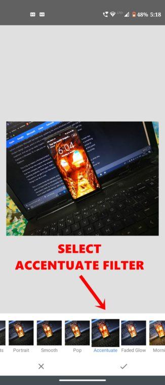 Filter akzentuieren