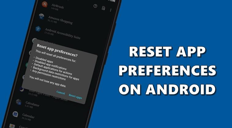 App-Einstellungen zurücksetzen