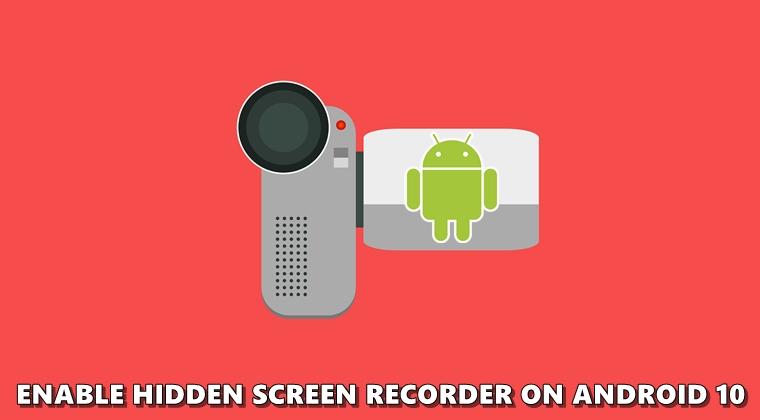 Android 10 Bildschirmrekorder
