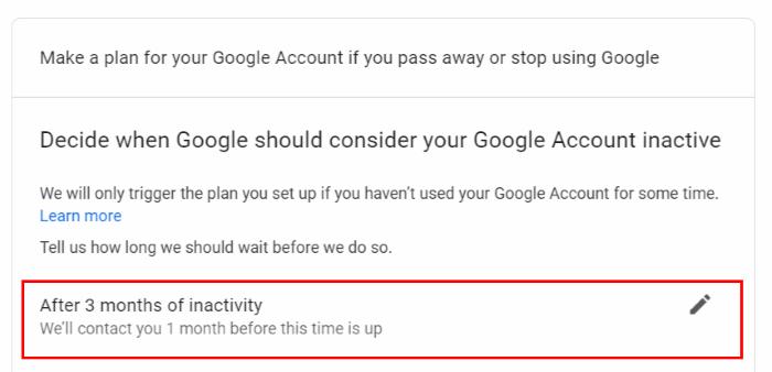 Google-Konto automatisch löschen