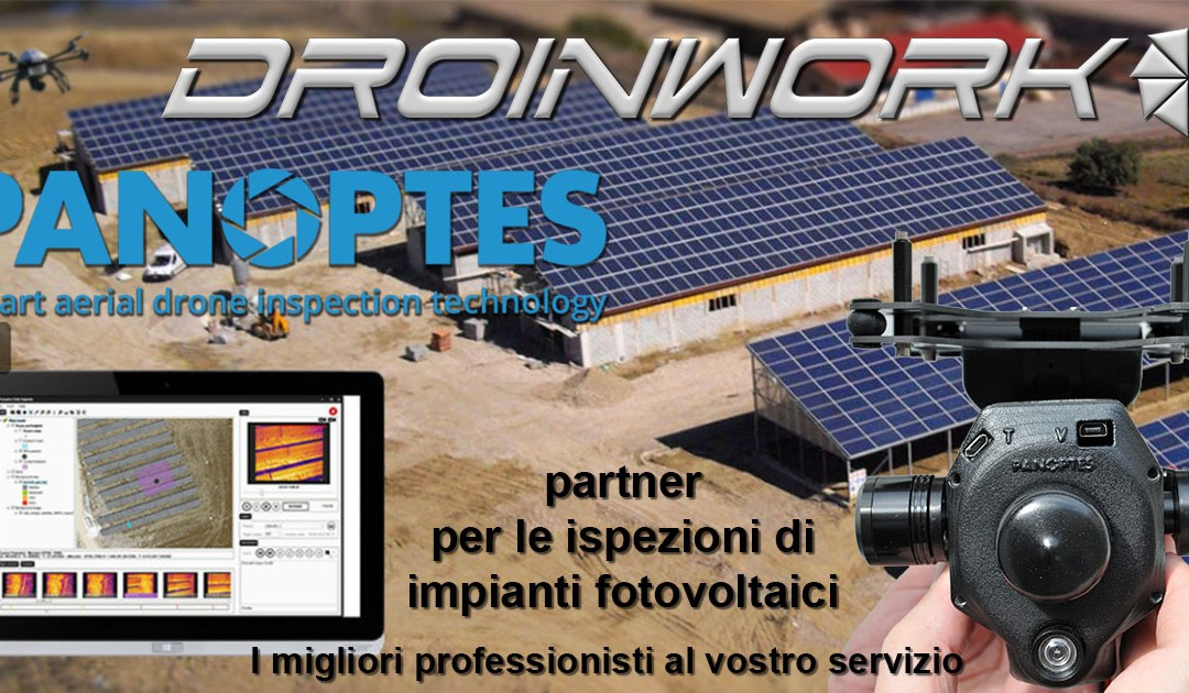 Droinwork / Partnership con Panoptes per il fotovoltaico