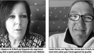 À gauche, Joeanny : cheveux noirs. Carole : cheveux courts, lunettes, souriante.