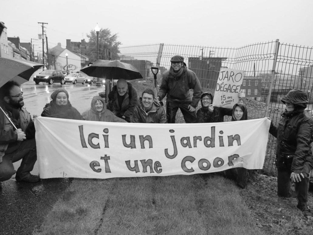 Action du Comité populaire Saint-Jean-Baptiste le 1er novembre dernier. Photo: courtoisie Compop