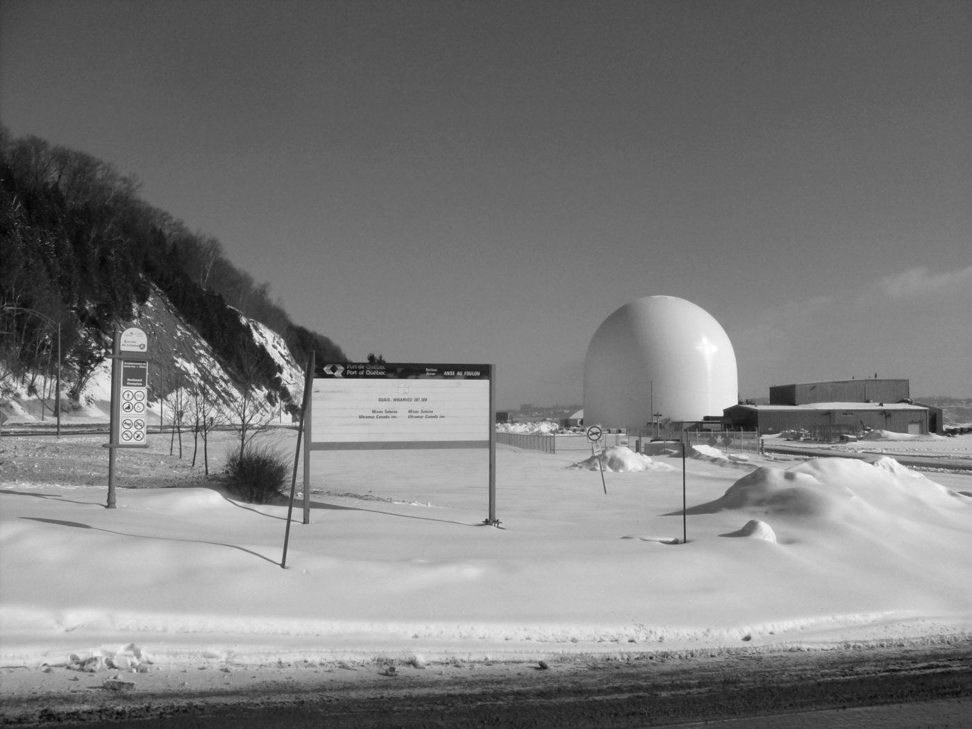 Le nouveau silo construit par Arrimage Québec aux abords du boulevard Champlain. Photo: Nathalie Côté