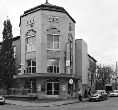 Le Centre Durocher et son entrée principale en art déco.