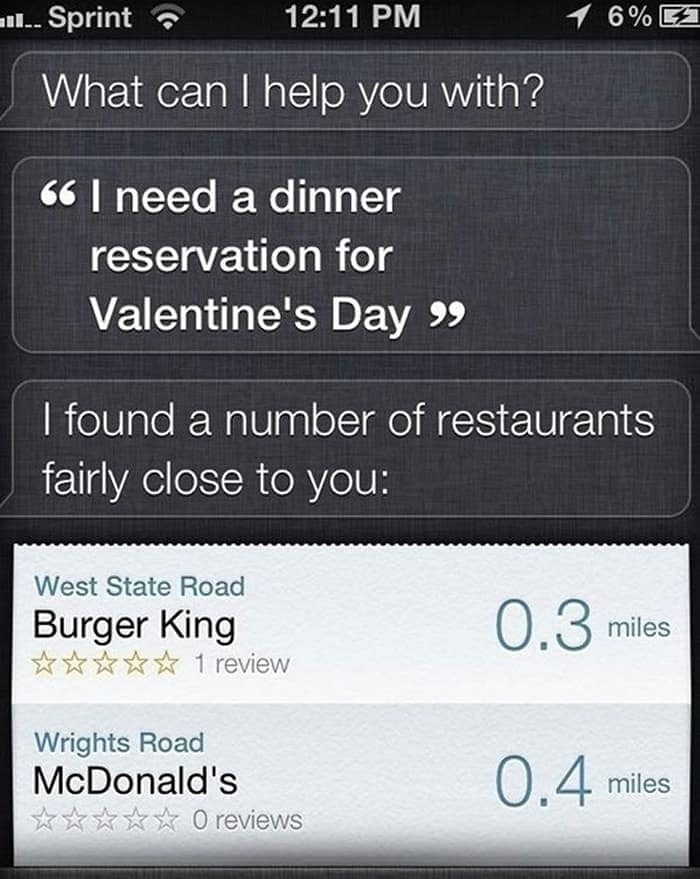 Valentines day dinner fail