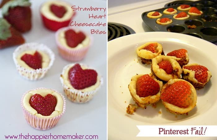Valentines day fail strawberry cheese cupcake