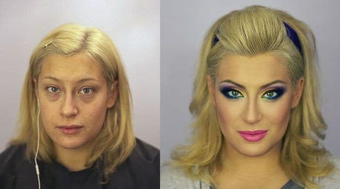 58 With and Without Makeup Pictures of Girls That Will Shock You - 04