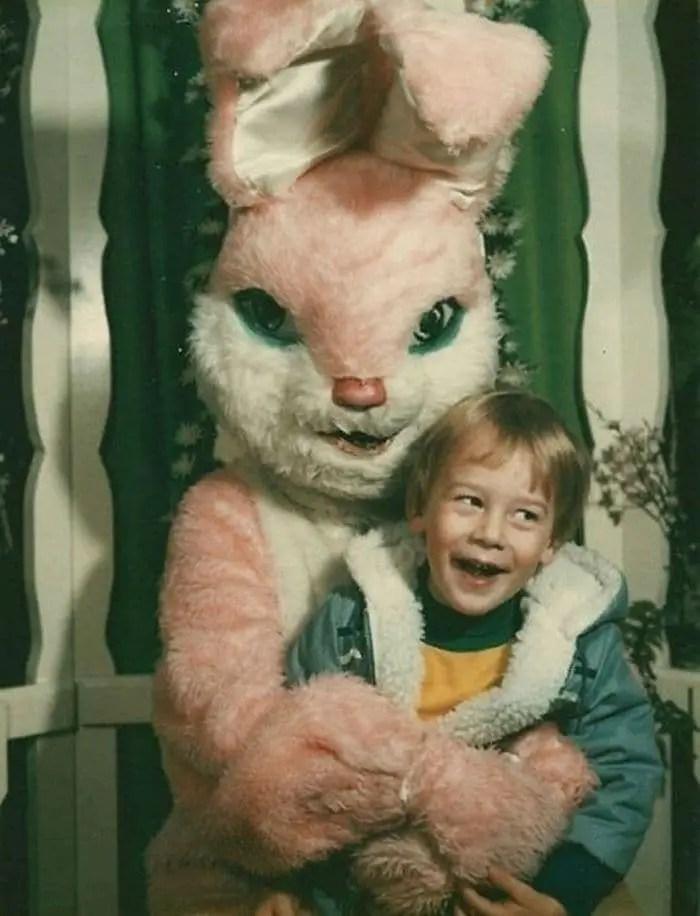 20 Creepy Vintage Easter Bunny Pics Guaranteed To Make You Say WTF -04