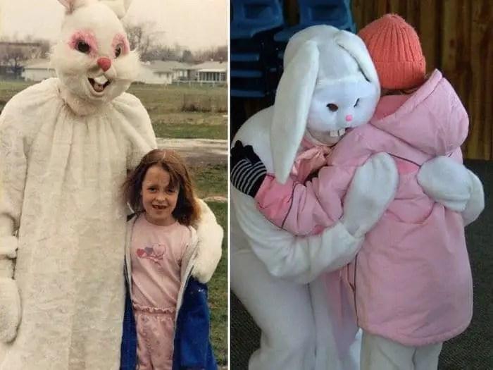 20 Creepy Vintage Easter Bunny Pics Guaranteed To Make You Say WTF -07