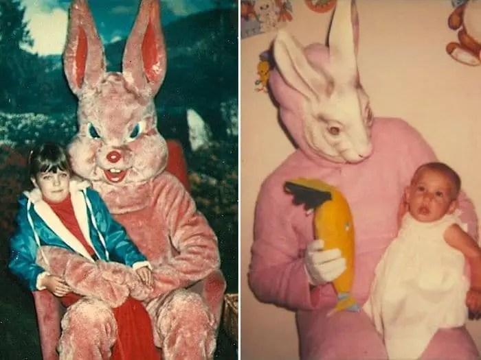 20 Creepy Vintage Easter Bunny Pics Guaranteed To Make You Say WTF -10