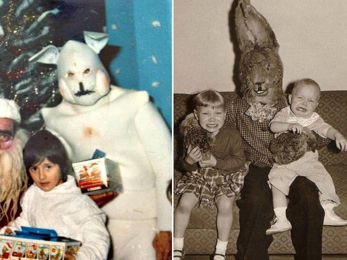 20 Creepy Vintage Easter Bunny Pics Guaranteed To Make You Say WTF 15